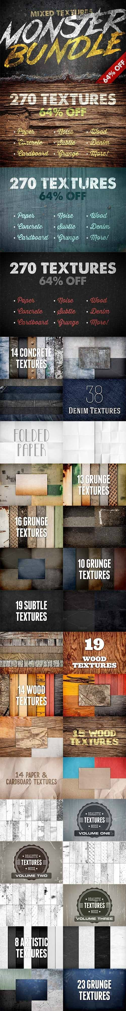 CreativeMarket - Mixed Texture Monster Bundle - 270 Textures