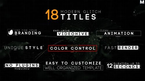 Modern Glitch Titles 17754081 - Project for After Effects (Videohive)