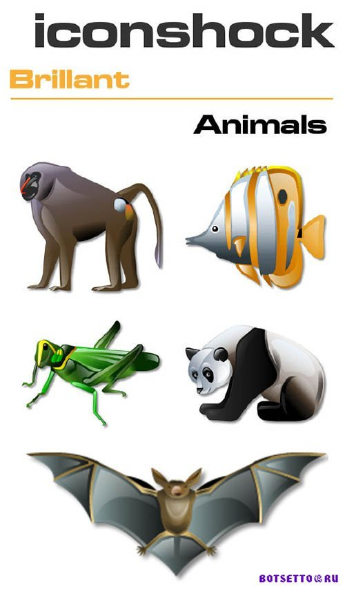 IconShock Pack - Brillant Animals