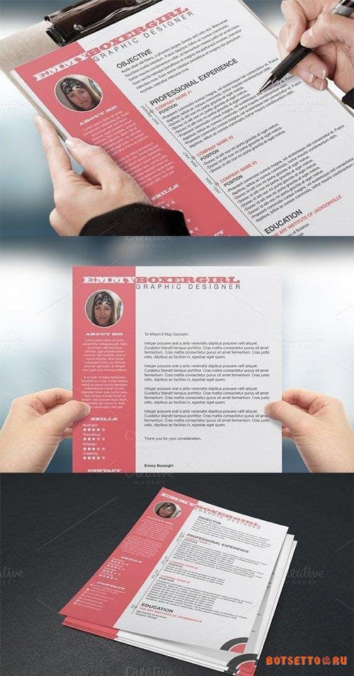 Resume & Cover Letter Template 22332
