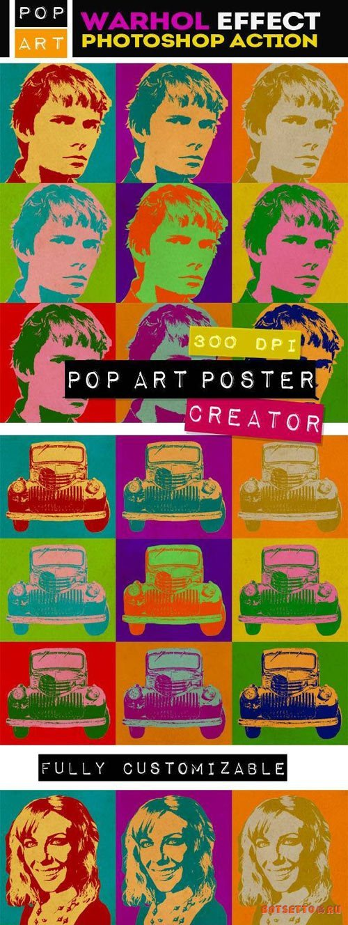 Pop Art Poster Maker - Warhol Effect