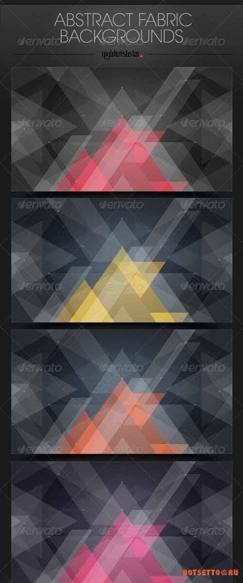 Abstract Fabric Triangles Backgrounds