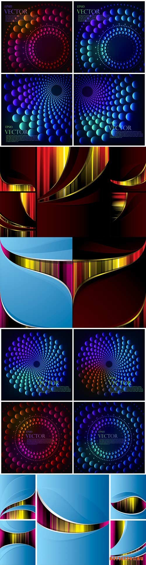 Bright colorful abstract backgrounds vector - 91